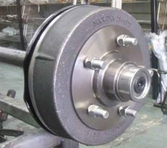50mm ROUND AXLE @ ____MM- 5 STUD LANDCRUISER ELECTRIC PARALLEL - Certified to 1600kg