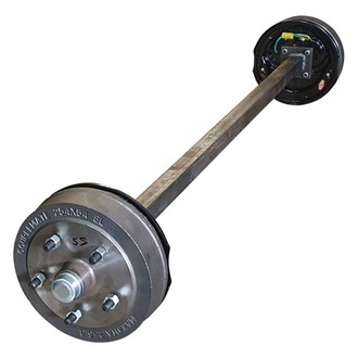 45mm SQUARE AXLE @ ??' 10' X 5 STUD LANDCRUISER ELECTRIC  - MAX RATING  to 1450 kg