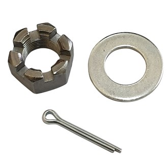 1' AXLE WASHER NUT KIT SUIT ALKO AXLES PLL 1.5T AND 2T - 14TPI