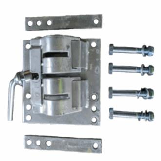 DOUBLE CLAMP GALVANISED KIT | 50mm | 75mm | 100mm | 150mm Draw Bars